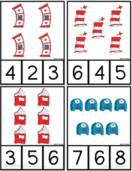 Seuss Inspired Counting Cards