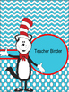 Seuss Inspired Editable Covers - Teacher Binders