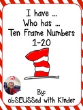 "Seuss Inspired ""I have Who has"" ten frame"
