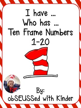 """Seuss Inspired """"I have Who has"""" ten frame"""
