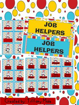 Seuss Inspired Job Helpers