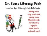 Seuss Inspired Literacy Pack Pre-K, Kindergarten and First Grade