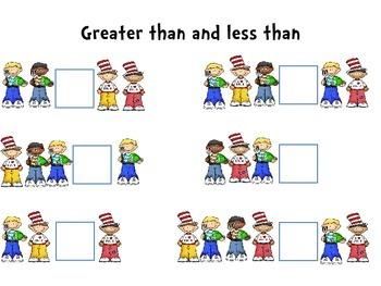 Seuss Inspired Math Work - Kindergarten and First Grade