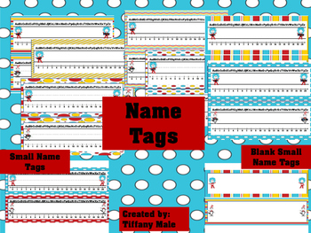 Seuss Inspired Name Tags