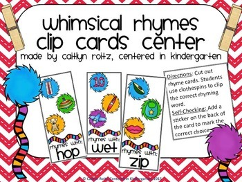 Whimsical Rhyming Clip Cards