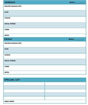 Seuss Inspired Student Planner Editable