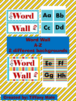Seuss Inspired Word Wall