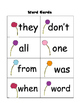 Sight Word Game:  Save the Trees:  Easy to Play!  Use with  RF.1.3g