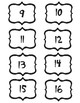 Seuss Number Labels 1-30
