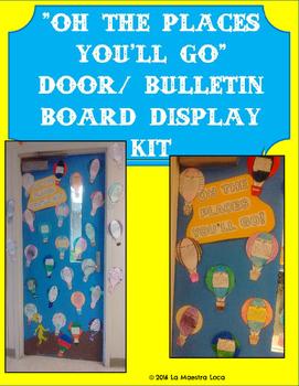 "Seuss' ""Oh the Places You'll Go"" Bulletin Board/ Door Deco"