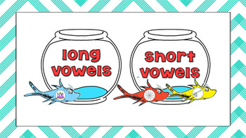 Seuss One Fish, Two Fish Vowel Sort -  Literacy Center