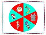 Seuss Spin a CVC Word Literacy Center