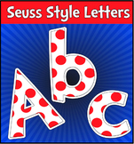 Seuss Style 3D Red Dot on White Letters