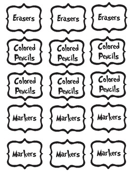 Seuss Supply Labels