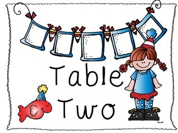 """""""Seuss-Tastic"""" Table Number Posters"""