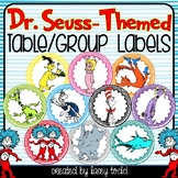 Dr. Seuss-Themed Table/Group Labels (20 LABELS)