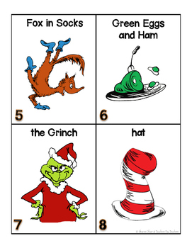 Seuss Words for writing center and write-the-room