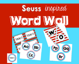 Dr Seuss inspired Word Wall letters