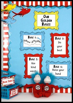 Whimsical Picture Frames - Coordinates with Seuss-like Colors Classroom Theme