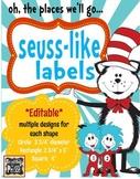 Seuss-like Theme Labels *editable*
