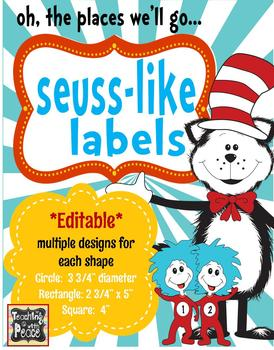 Seuss-like Theme Labels *editable*