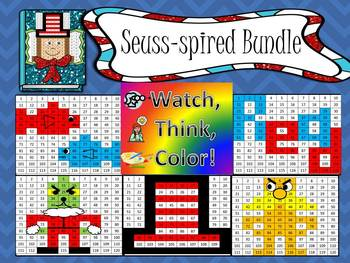 Seuss-spired Bundle Watch, Think, Color Games - EXPANDING BUNDLE