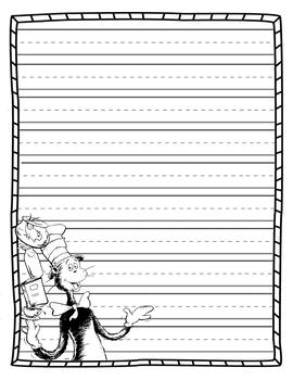 Seuss theme writing paper #2