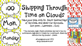 Seuss themed - Skipping Through Time on Clouds