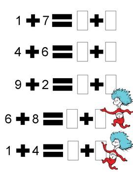 Seussical Equations Worksheet