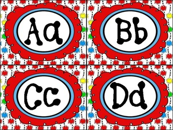Seussical Inspired Word Wall Banner and Alphabet Headers