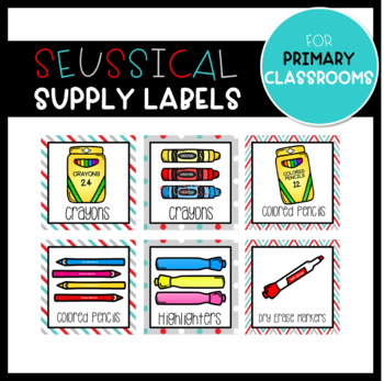 Seussical Supply Labels