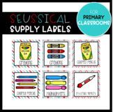 Red & Turquoise Supply Labels