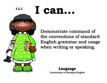 Seusskids 1st grade English Common core standards posters