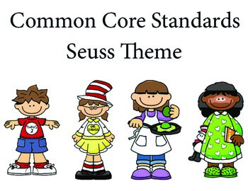 Seusskids 1st grade English Common core standards posters