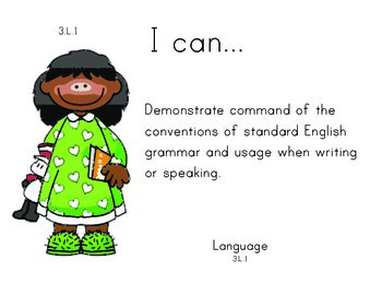 Seusskids 3rd grade English Common core standards posters