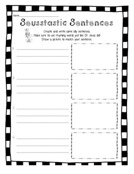 Seusstastic Sentences