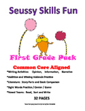 Seussy First Grade Pack: 32 pgs. Write, Compare Texts, Phonics, Missing Addends