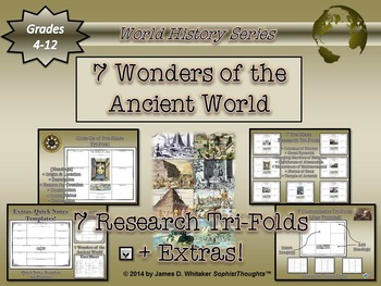 Seven (7) Wonders of the Ancient World Research Tri-Fold