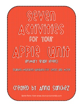 Seven Activities For Your Apple Unit