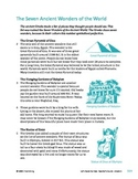 Seven Ancient Wonders of the World - Informational Text Test Prep