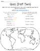Seven Continent Web-Quest Quizzes