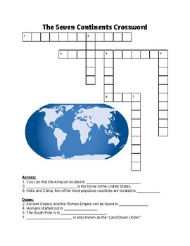Seven Continents Crossword