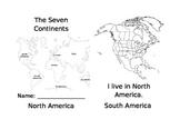 Seven Continents Emergent Reader