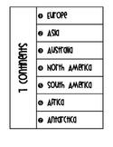 Seven Continents Flip Book - Now Includes 5 Oceans Flip Book