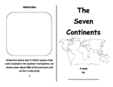 Seven Continents Foldable Booklet - Color, Cut and Paste