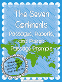 Seven Continents Passages, Report Sheets, and Paired Passage Prompts