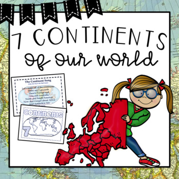 Seven Continents Of The World Posters By TxTeach TpT - Seven continents of the world