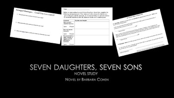 Seven Daughters, Seven Sons Novel Study Materials