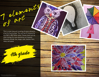 Seven Elements of Art Grade Four- 21 lessons