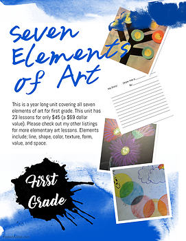 Seven Elements of Art Grade One- 23 lessons